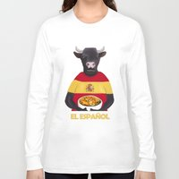 spanish Long Sleeve T-shirts featuring The Spanish by Dano77