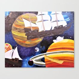 Space Ships Canvas Print