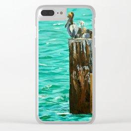 Boca Birds Clear iPhone Case