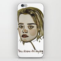 sky ferreira iPhone & iPod Skins featuring Sky Ferreira by Icillustration