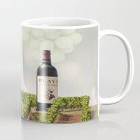 wine Mugs featuring Wine by Gouzelka
