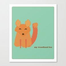 My woodland fox Canvas Print