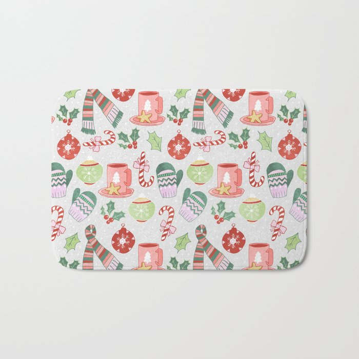Cozy Christmas Pattern Bath Mat