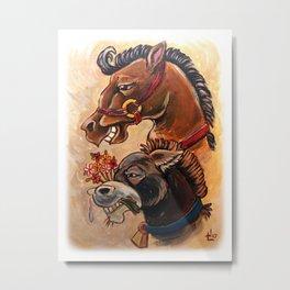 Horse or Donkey Metal Print