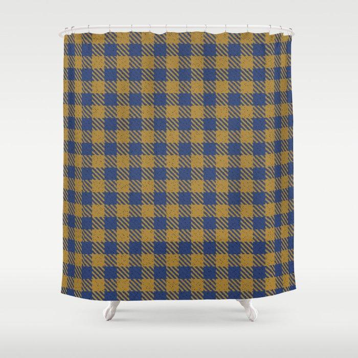Abercrombie Alpine Resolution Blue Camel Plaid Shower Curtain
