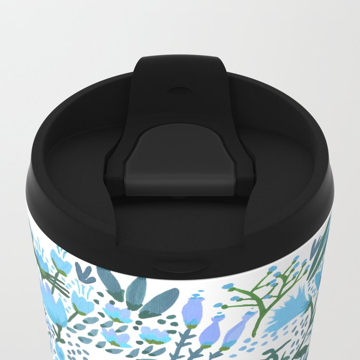Big Brows – Blue Palette Metal Travel Mug