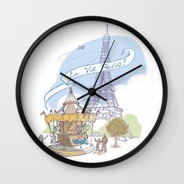 La Vie Paris Wall Clock