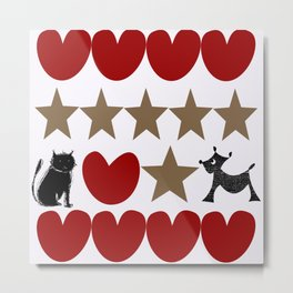 catlovedog Metal Print