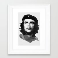 che Framed Art Prints featuring Che by Poly Iconik Art