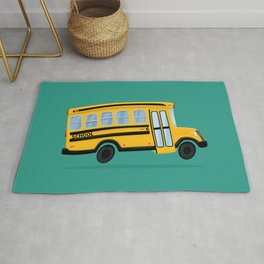 Cute School Bus Rug