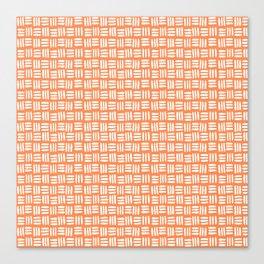 Orange and White Tribal Canvas Print