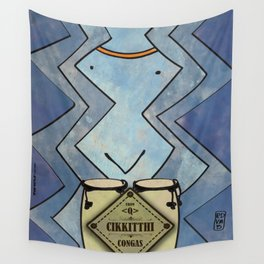 Cikkitthi from < Q > (Congas) Wall Tapestry