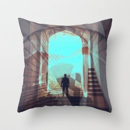 Stairways abstract photo collage Throw Pillow