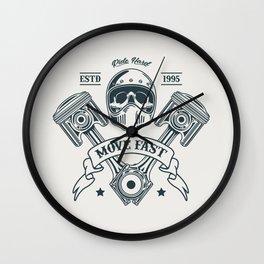 Motorcycle Club Illustration Wall Clock