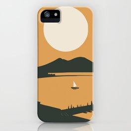 Big moon bay iPhone Case