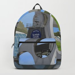 Falkirk Wheel illustration Backpack
