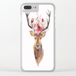 Bohemian Deer Clear iPhone Case