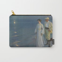 Summer Evening at Skagen beach. The artist and his wife. Carry-All Pouch