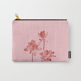 Three Lotos Flowers pink Design Carry-All Pouch