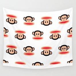 Julius Monkey Pattern by Paul Frank - White  Wall Tapestry