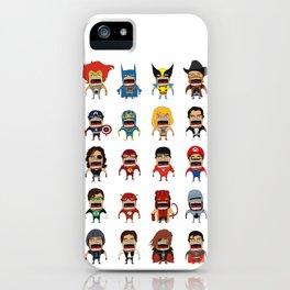 Screaming Heroes iPhone Case