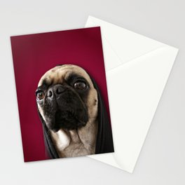 Lola on Red Stationery Cards