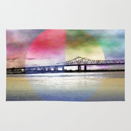 Crescent City Connection Bridge Rug