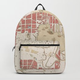 Vintage Map of Baltimore MD (1793) Backpack