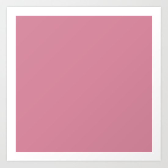 Raspberry Ice-cream Art Print