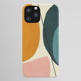 shapes geometric minimal painting abstract iPhone Case