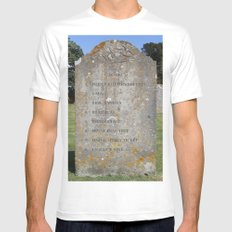 Grave 08 White MEDIUM Mens Fitted Tee