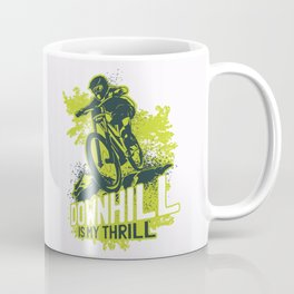 Downhill Biking Coffee Mug