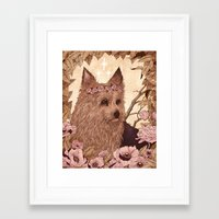 yorkie Framed Art Prints featuring Yorkie by Angela Rizza