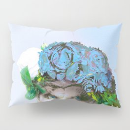 Cool Animal Art - Owl with a Flower Crown Pillow Sham