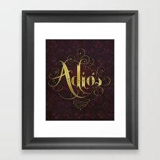 Adiós Framed Art Print