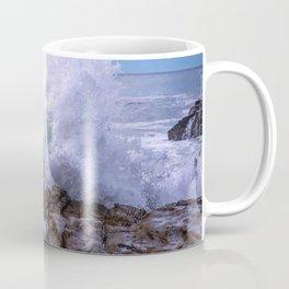 Inner Strength waves crashing at Moonstone Beach California Coffee Mug
