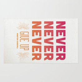 Never Give Up Rug