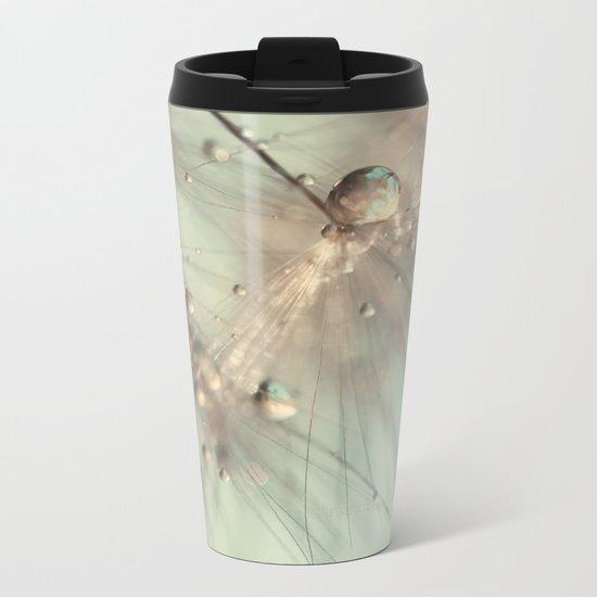 dandelion mint Metal Travel Mug