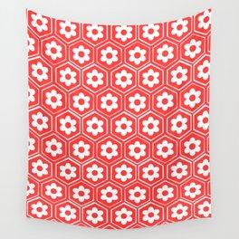 sesshomaru inspired japanese flower pattern Wall Tapestry