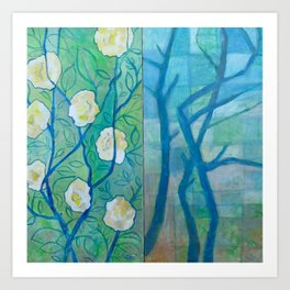 Winter and Spring Art Print