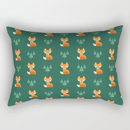 Geometric Foxes Rectangular Pillow