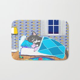 Sleepy Time Cat Bath Mat