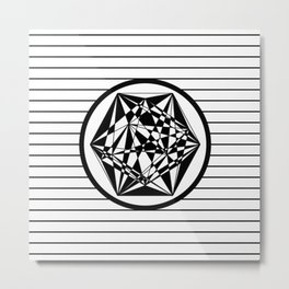Black And White Geometry Metal Print
