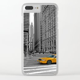 NYC - Yellow Cabs - Trinity Place Clear iPhone Case