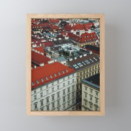 Vienna rooftops II Framed Mini Art Print