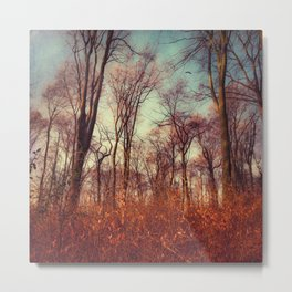 Dreamy Soft Trees Metal Print
