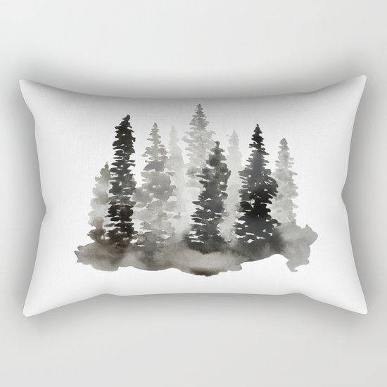 Fading Forest Rectangular Pillow