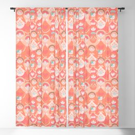 Matrioskas and a Kitty Cat Crowd Blackout Curtain