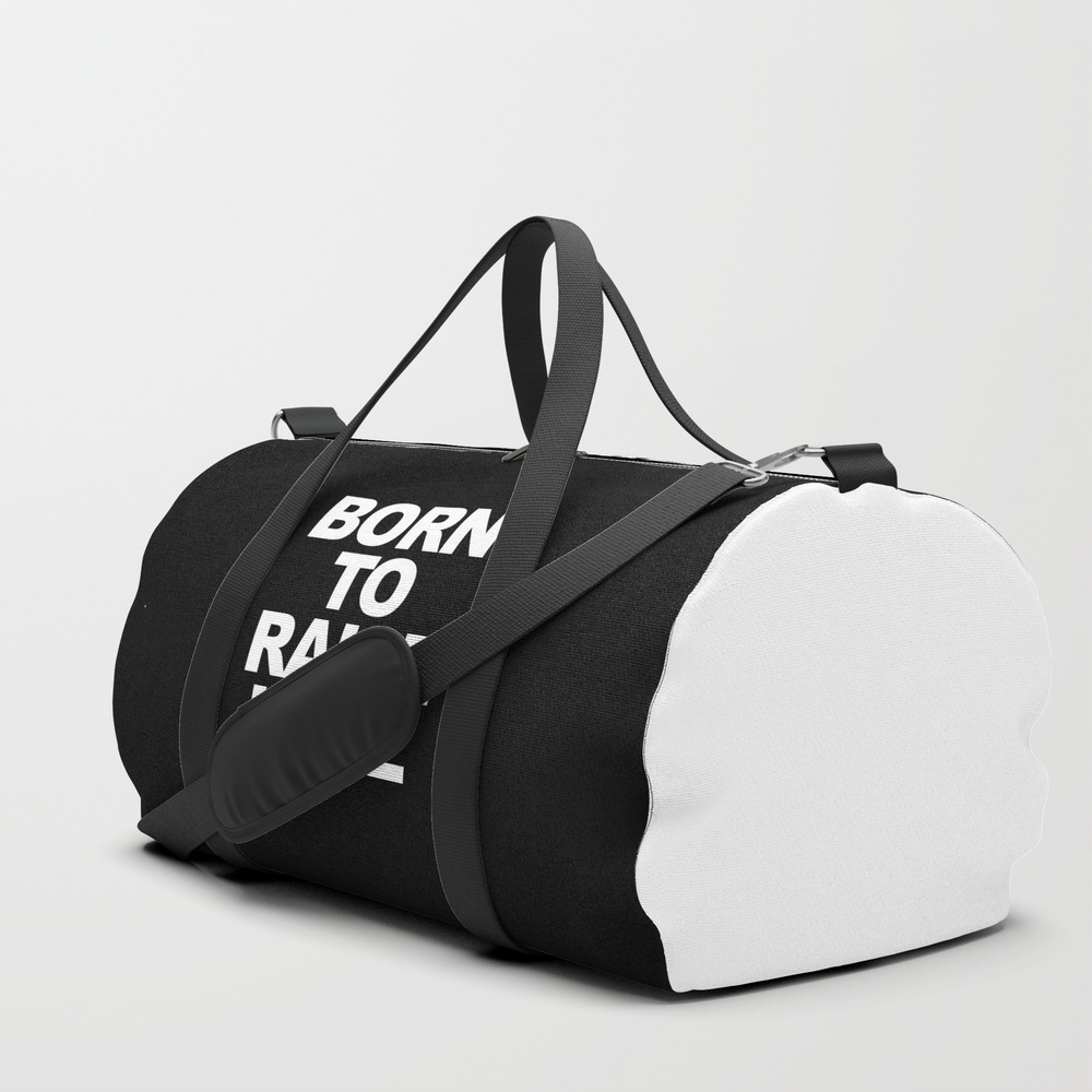 Born To Raise Hell Funny Quote Duffle Bag by Tdq2 DFL8392286
