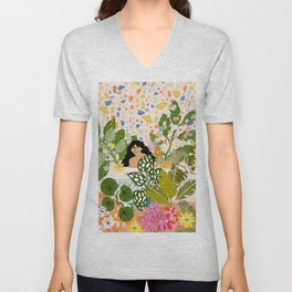 Bathing with Plants Unisex V-Neck